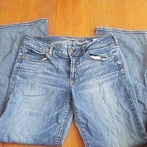 AMERICAN EAGLE sz 12 stretch boyfriend jeans